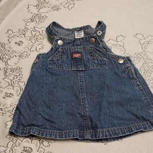 Baby girl jean overall dress